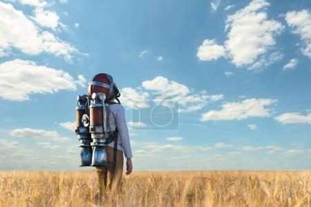 Little boy in the field