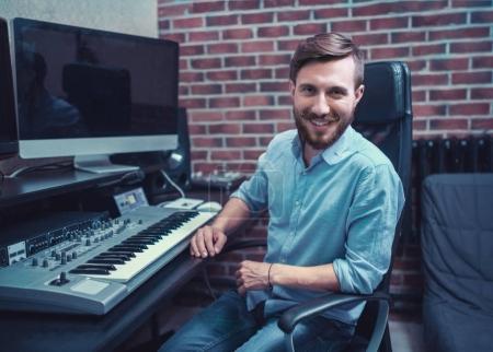 Producer in studio