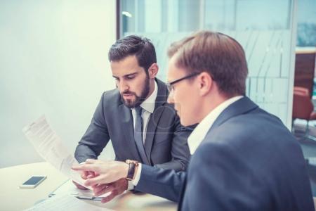 Meeting people in office