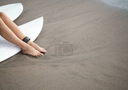Surfer on vacation