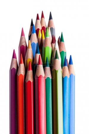 Lápices sobre blanco