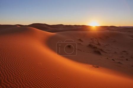 Photo pour Belles dunes de sable dans le désert du Sahara - image libre de droit