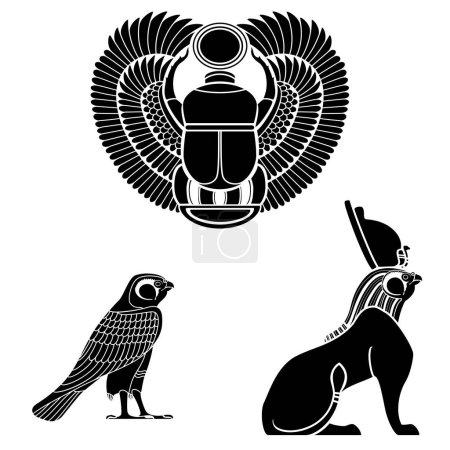 Set of egyptian ancient symbol, egyptian element ,...
