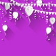 Illustration happy birthday background with balloo...
