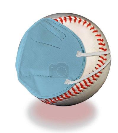 Photo pour Annulation du baseball américain par le virus COVID-19 . - image libre de droit