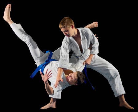 Photo for Boys martial arts fighters isolated - Royalty Free Image