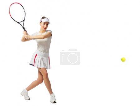 Woman tennis player (with ball version)