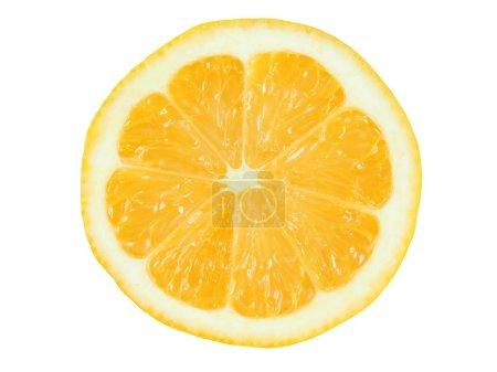 Photo pour Tranche de citron juteuse isolée sur fond blanc - image libre de droit
