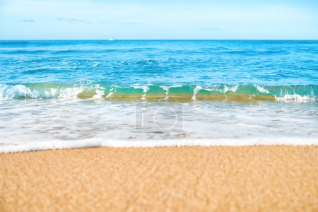 Tropical beach with sand and sea