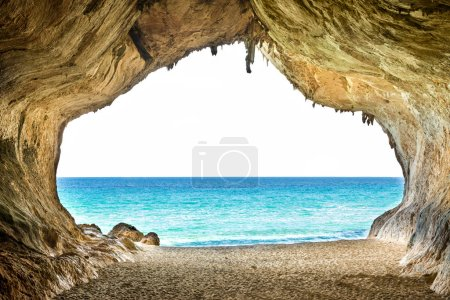 Big empty cave with access to sea