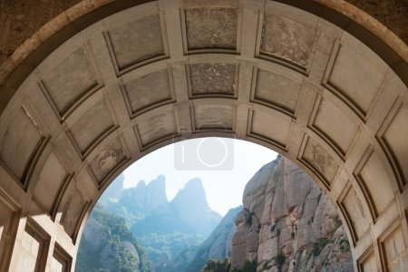 View from the entrance of Montserrat monastery