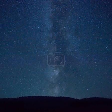 Night blue sky with many stars