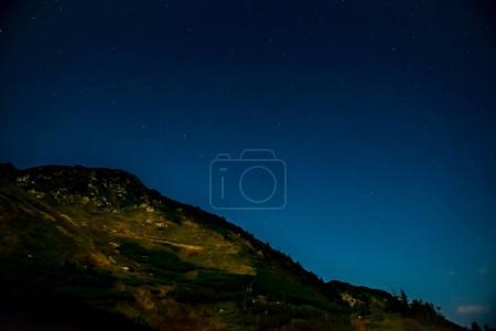 Dark night over mountain