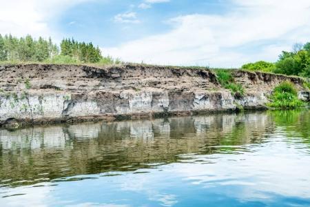Calm landscape with blue river