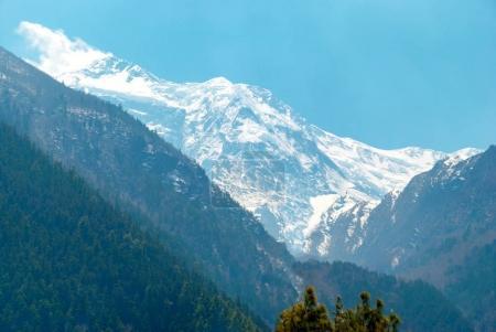 High Tibetan mountains in snow