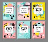 Christmas Sale backgrounds mobile theme Modern design for poster card invitation flyer