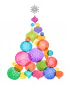 Christmas backgound with Christmas tree watercolor vibrant colors Christmas decoration Merry Christmas Sale poster
