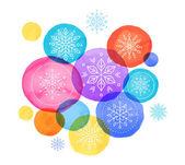 Christmas backgound with Christmas balls vibrant watercolor Christmas decoration Merry Christmas greeting card