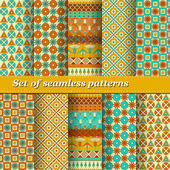 Set of Ancient Egyptian ornament Tribal seamless pattern Can be used for cloth jackets invitation flyers bags notebooks cards envelopes pads blankets furniture packing