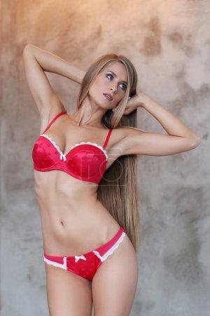 girl posing in lingerie