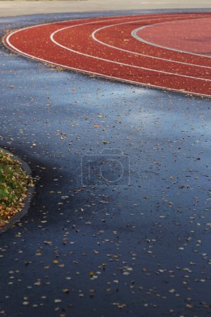 Photo for Sport, outdoor. Running track during the day - Royalty Free Image