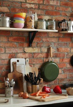 Kitchen interior and Kitchenware