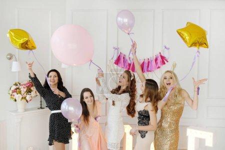 Women celebrating bachelorette party