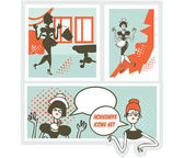 Housewifes icons set - design elements collection