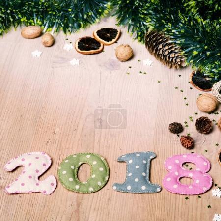 New year theme decoration