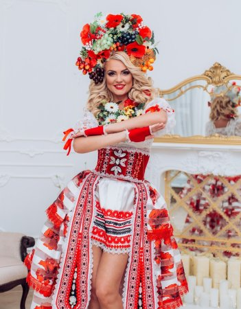 Photo for Ukrainian beautiful woman in national clothes - Royalty Free Image