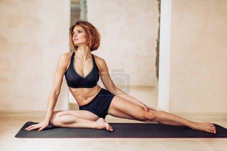 woman doing yogic exercise