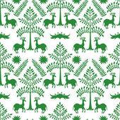 Otomi Green Forest Pattern