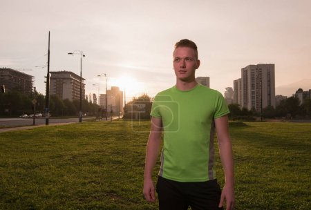 portrait of a young man on jogging