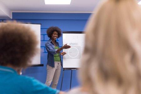 Black woman Speaker at Seminar