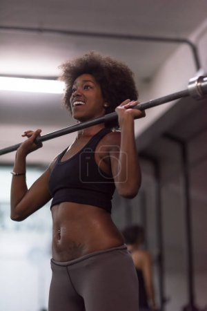 lifting  african american sport woman