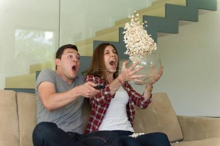 young couple enjoying free time