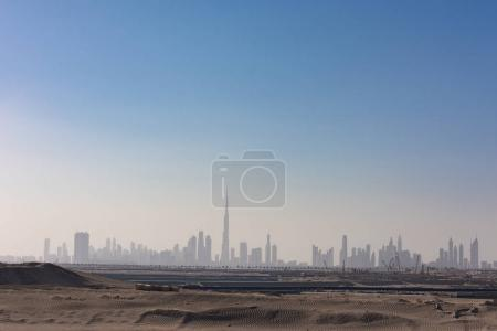 Panorama Dubai city
