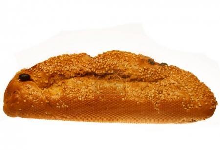 Bread. over white background