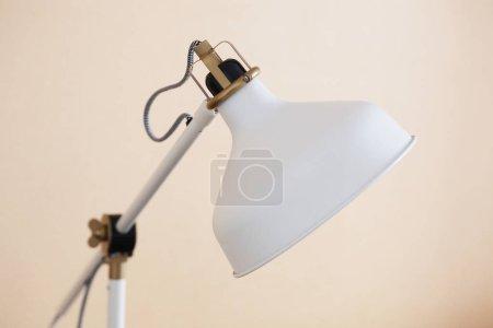 White desk lamp close up