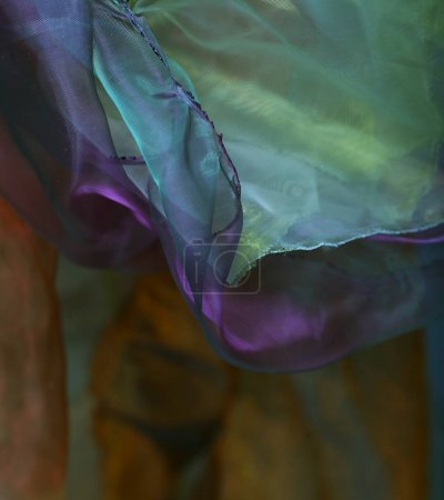 abstract background organza close up
