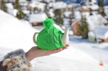 Tea pot in the cap