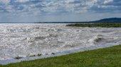 Gale over the lake Balaton (Hungary)