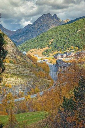 Photo for Nice landscape from a mountains in country Andorra. - Royalty Free Image