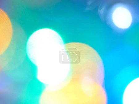 Colorful blurring lights