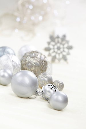 New Year silver balls