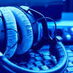 Microphone in a recording studio close up...