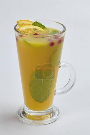 hot winter drink in glass