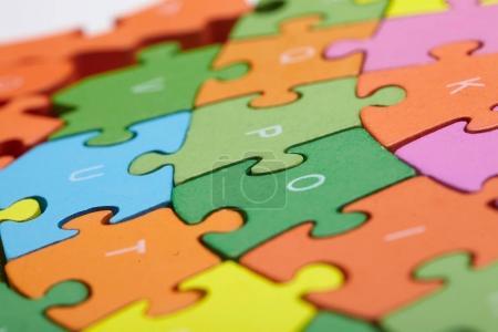 color puzzle parts