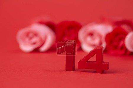 Photo pour Belle décoration rouge pour la Saint Valentin - image libre de droit