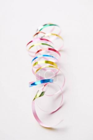Colorful holiday ribbons